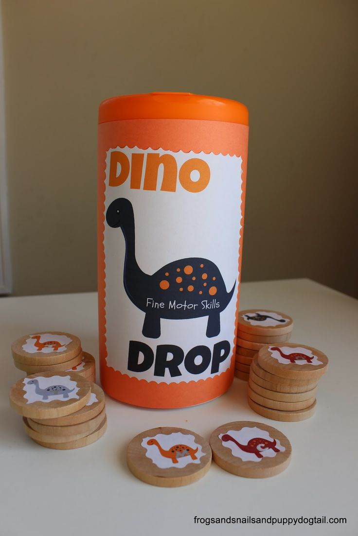 (FSPDT): Dino Drop~ fine motor skills. Busy activity for the kids.