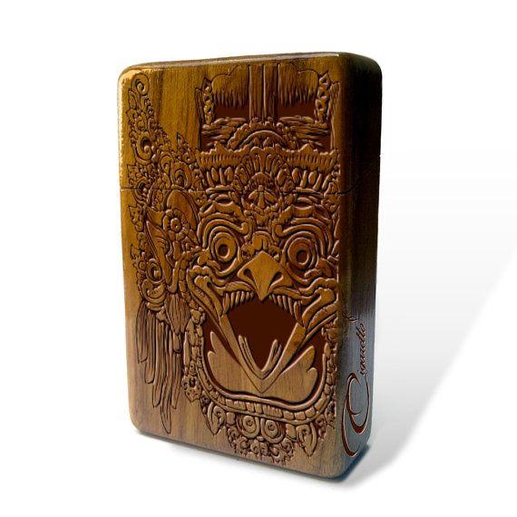 Balinese Eagle Mask Java Teak Wooden Cigarette Case,vintage cigarette case,cigarettes case for men