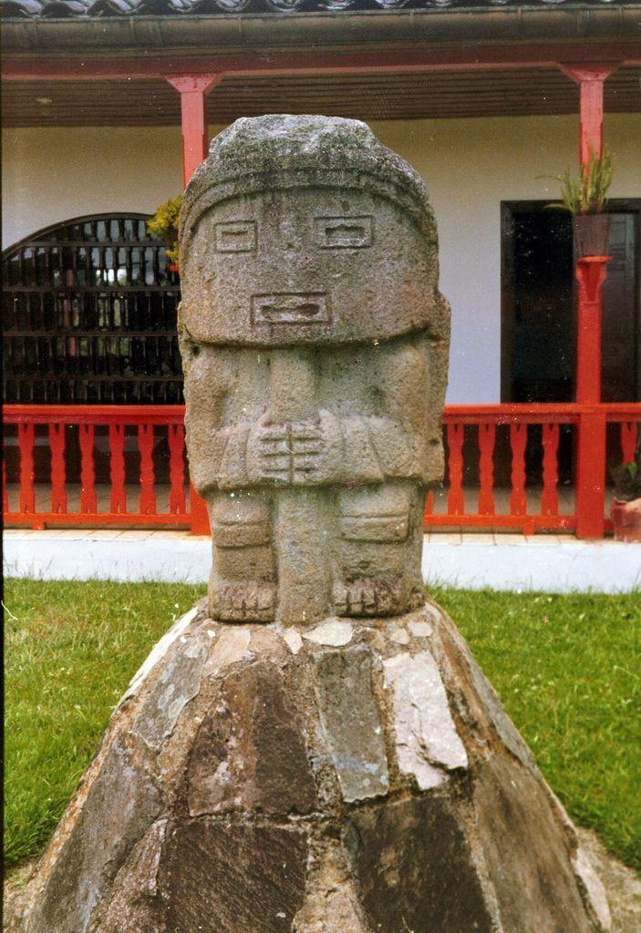 Pre-Columbian statutes, San Agustín, Colombia   UNESCO World Heritage Site