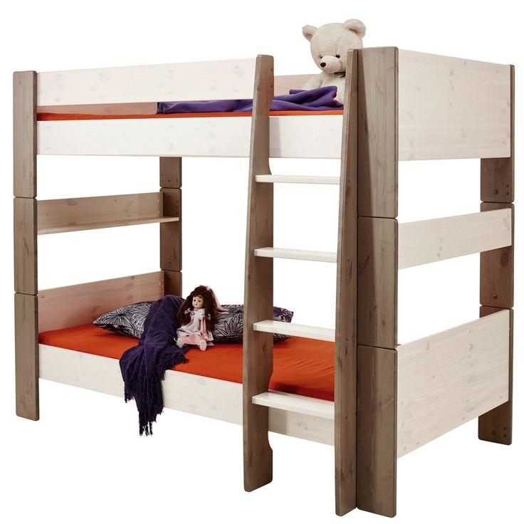 Beautiful Bett For Kids x cm Etagenbett Kiefer massiv White Wash Stone Jetzt bestellen unter https moebel ladendirekt de kinderzimmer betten etagenbetten uid