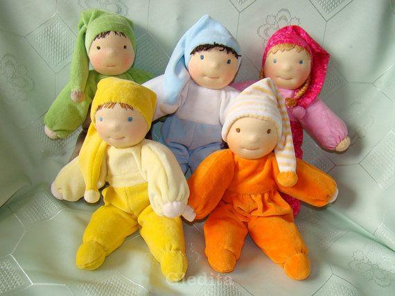 Custom order of Gledita Waldorf Elf doll - waldorf doll - plush doll - soft doll - cloth doll