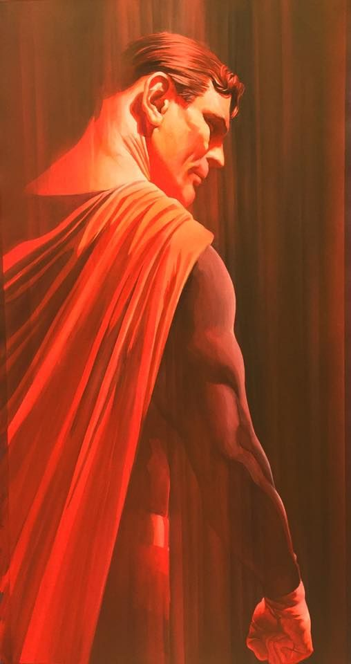 (4) Alex Ross - New- Jla portraits (Shadows line) Available at fine...