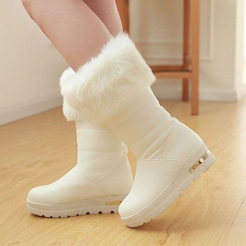 Graceful Mid-calf Snow Boots