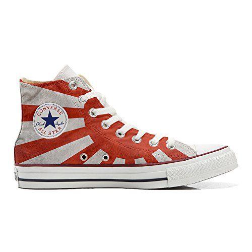 Converse All Star personalisierte Schuhe (Handwerk Produkt) mit Japan-Flagge - http://on-line-kaufen.de/make-your-shoes/converse-all-star-personalisierte-schuhe-mit-2