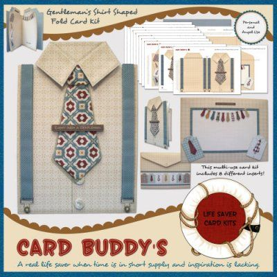 A new multi-use shaped card kit for the men in your life. It's suitable for a wide range of occasions including: Father's Day; Birthdays; Anniversaries, Valentine's Day; good luck with a new job; congratulations on a promotion; and retirement. You can find it at: http://cardbuddydesigns.com/index.php?main_page=product_info&cPath=6_8&products_id=531