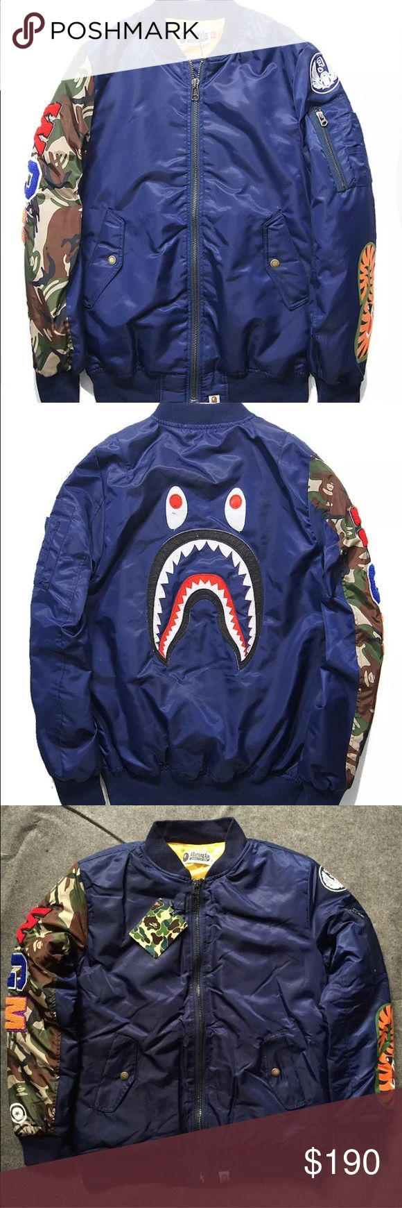 Bathing ape camo wgm bomber jacket New with tags! Bape Jackets & Coats Bomber & Varsity
