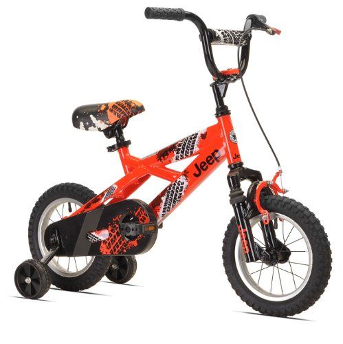 Love It! Jeep Boy's Bike (12-Inch, Orange/Black)