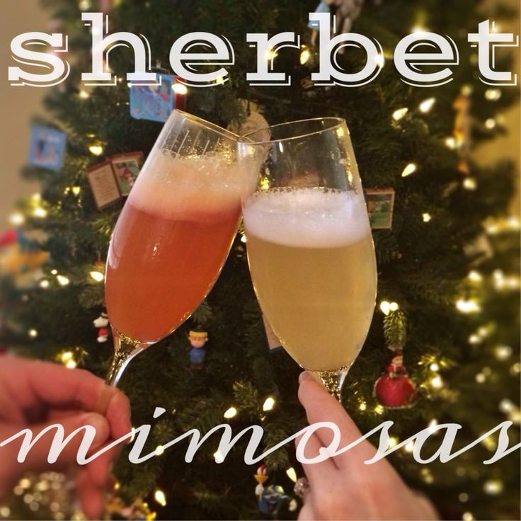 Sherbet Mimosas are a fun was to dress up any mimosa! Use the ice cream flavor of your choice and mix with champagne. So fun and delicious!