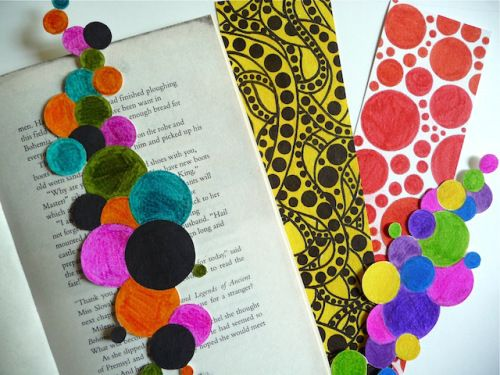 Polka Dot Bookmarks inspired by artist Yayoi Kusama