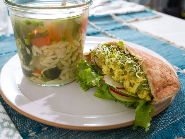 Lemony Orzo Chicken Soup in a Jar recipe from Trisha Yearwood via Food Network
