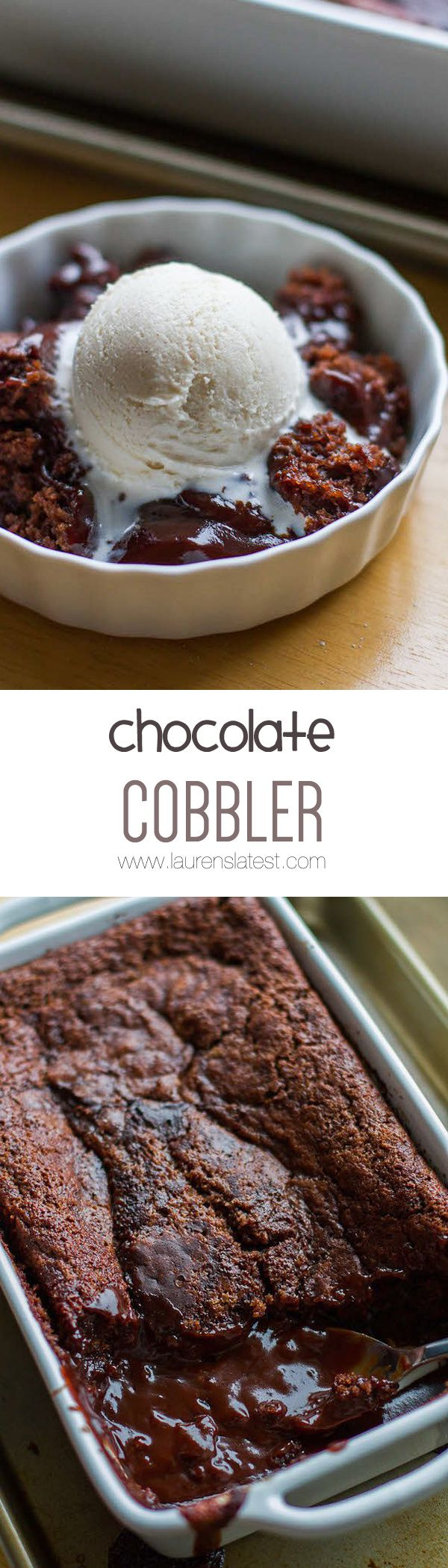 This Chocolate Cobbler is like chocolate pudding meets chocolate lava cake! So rich and delicious, plus so simple to throw together!