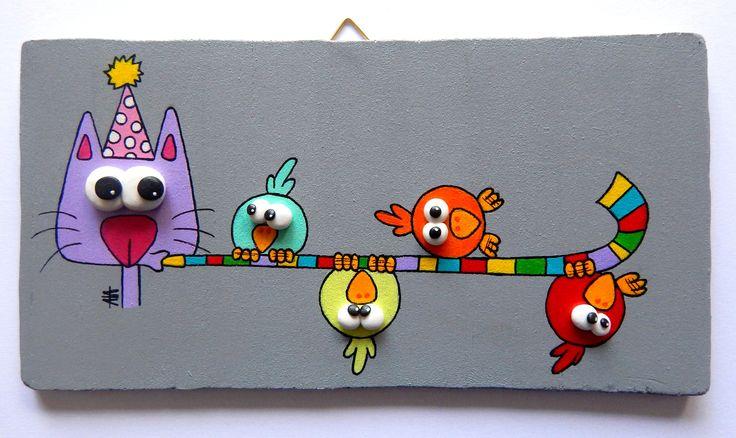 Tableau en bois tableaux pour enfants plaque de porte - Tableau enfant bois ...