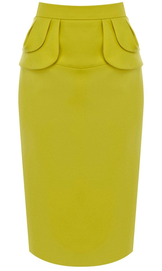 Karen Millen Yellow Skirt