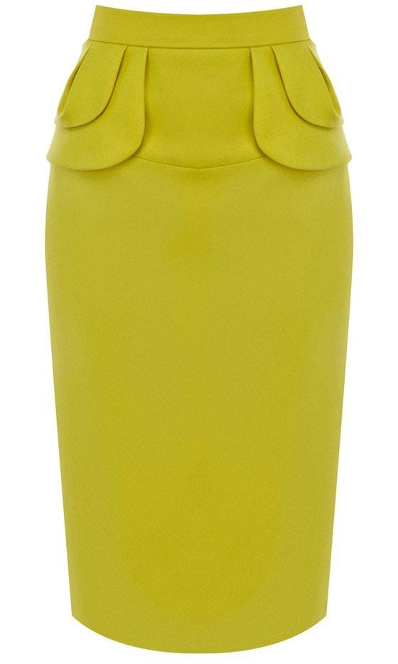Karen Millen Yellow Skirt