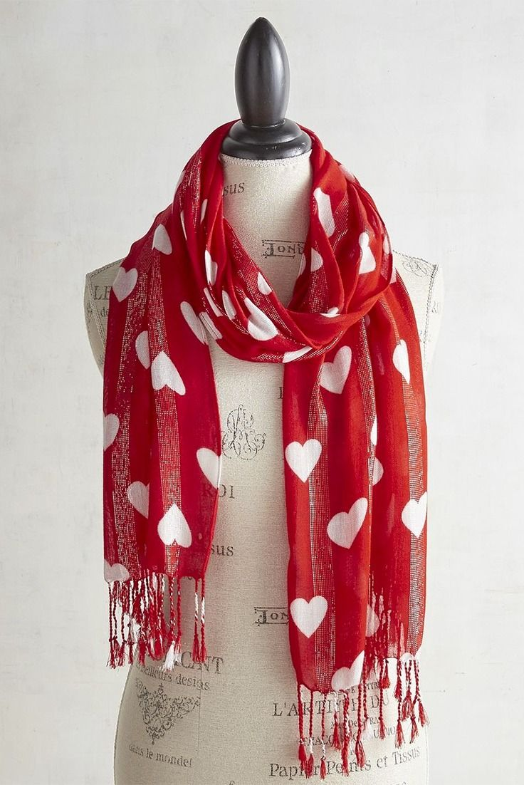 Winter is usually still in full force during February, which makes Pier 1's Heart Print Wrap a Valentine's Day accessory that's both romantic and practical. Alternating rows of small white hearts run parallel over pink and red stripes, creating a flirty illusion of hearts on the move. This multipurpose wrap also makes a great mantel scarf or chair bow.