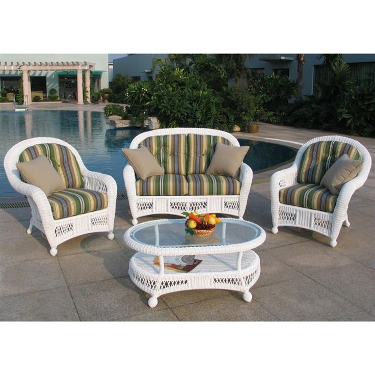 Lovely Chicago Wicker Montego 4 Pc. Wicker Patio Furniture Collection