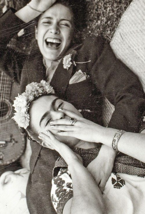 "Nothing is worth more than laughter. It is strength to laugh and to abandon oneself, to be light. Tragedy is the most ridiculous thing."" - Frida Kahlo"