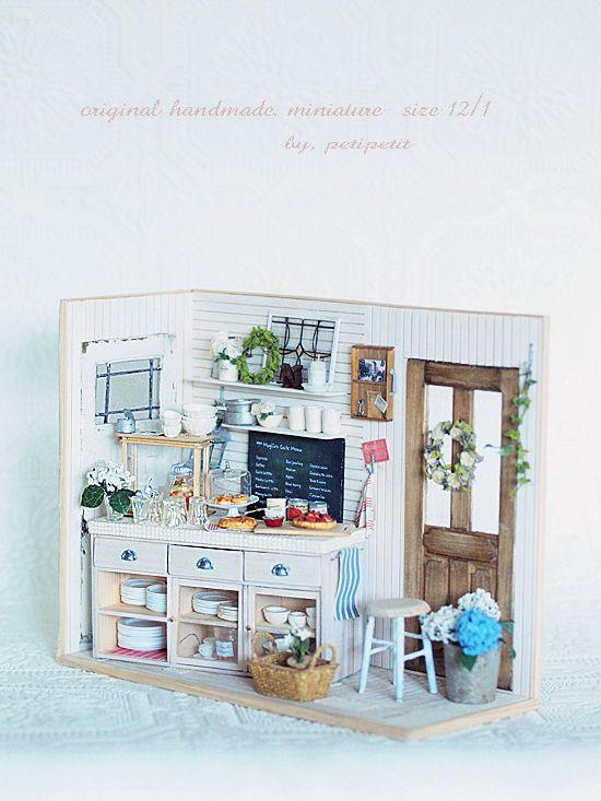 miniature* natsural kitchen : natural色の生活~handmade家具