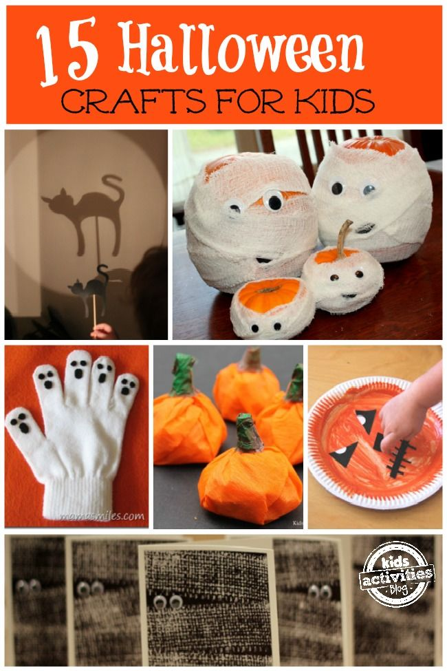 and simple Halloween crafts for kids Theres something for all ages  Halloween Craft Ideas Preschool Age