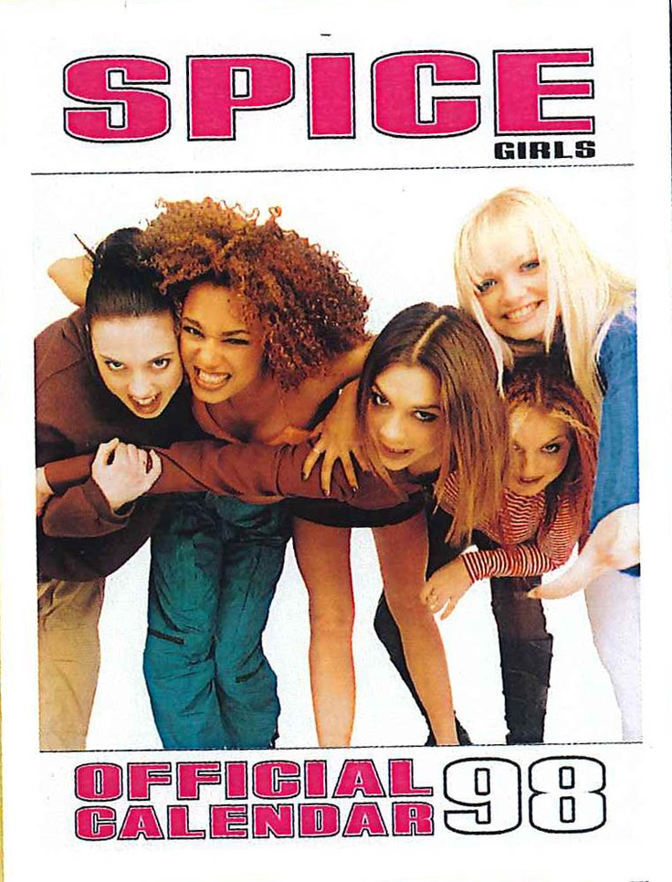 "We was all shouting ""Spice up your Life"" when we first saw this 1998 Sprice Girl calendar."