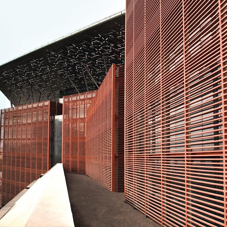 Louvres In Terracotta Facade Architecture Architecture Details Architecture