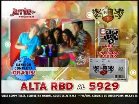 RBD anuncio para el movil concierto españa