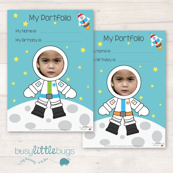 If you are a child educator, you will love our newly designed Astronaut child portfolio! Comes with 4 different covers!  Keep your childrens