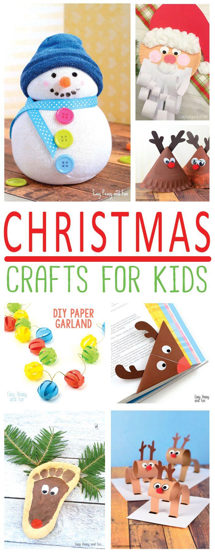 Festive christmas crafts for kids tons of art and - Manualidades ninos navidad ...