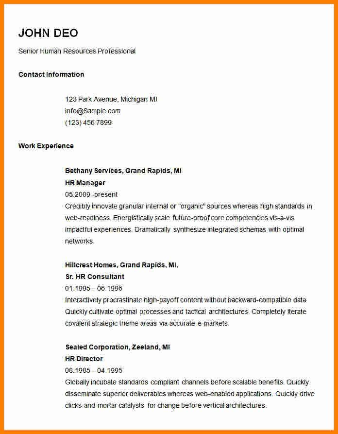 Plain Text Resume Example Lovely 13 Plain Resume Templates Basic Resume Downloadable Resume Template Basic Resume Examples