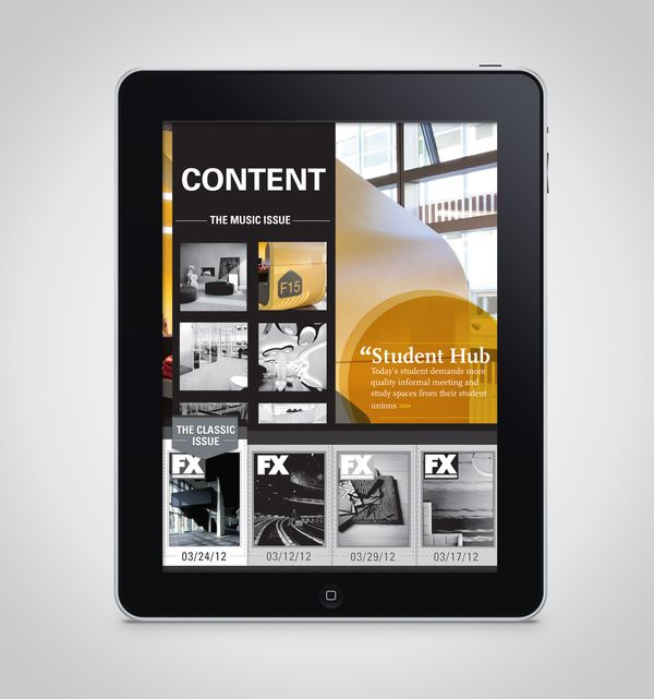 FX Magazine Website & Ipad by Annie JQ Liu, via Behance
