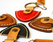 Personalized Guitar pick case leather keyring / Christmas Gift for Him. $16.50, via Etsy.