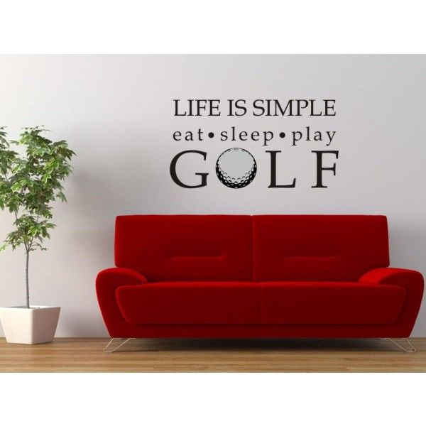 Alphabet Garden Designs Life is Simple-Golf Wall Decal - sport106 - All Wall Art - Wall Art & Coverings - Decor