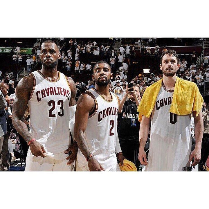 LeBron James Kyrie Irving and Kevin Love are all OUT tonight. #dhtk #repre23nt #donthatetheking http://ift.tt/2mEe6qg