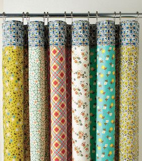 Half Moon Bay Reversible Shower Curtain - eclectic - shower curtains - by Garnet Hill