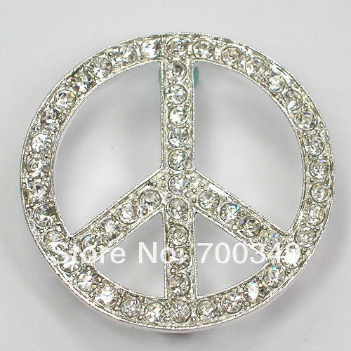 Посеребрение 12 piece/lot прозрачный кристалл горный хрусталь мира марк булавка брошь C518 макияж-1