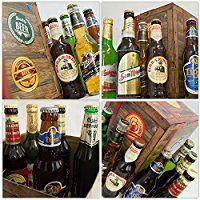 BIERE DER WELT Geschenk Box für Männer + gratis Bierbuch + Geschenkkarten + mehr. Bierset mit Bier aus Amerika + Asien + Tschechien + Belgien + Spanien ... Geschenkset + Biergeschenke aus aller Welt