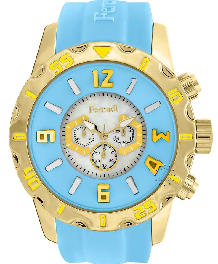 FERENDI Zeal Cyan Rubber Strap Μοντέλο: 1309-24 Τιμή: 59€ http://www.oroloi.gr/product_info.php?products_id=41299