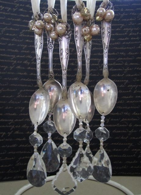ORNAMENTS! From crystals and old spoons