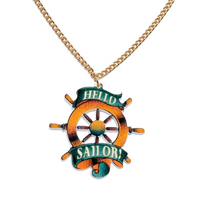 sailor necklace, lovely with a plain white t-shirt :) Check out our whol sailor inspired collection at www.attitudeholland.nl