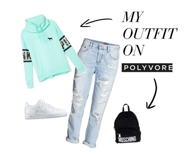 """""""chill"""" by bianca-williams-bristol ❤ liked on Polyvore featuring H&M, Victoria's Secret, NIKE and Moschino"""