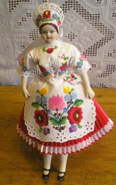 A very nice china doll from Kalocsa.