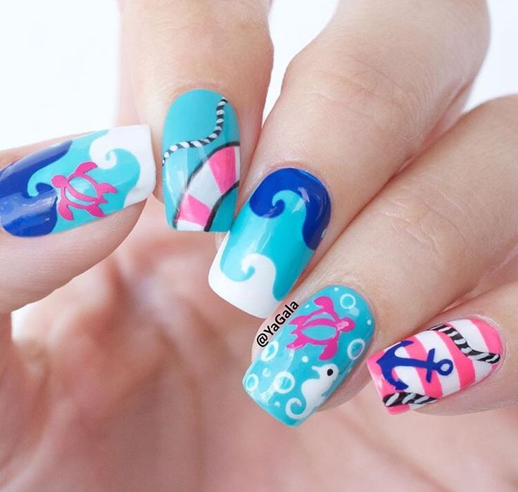 Beach Wave Nail Vinyls
