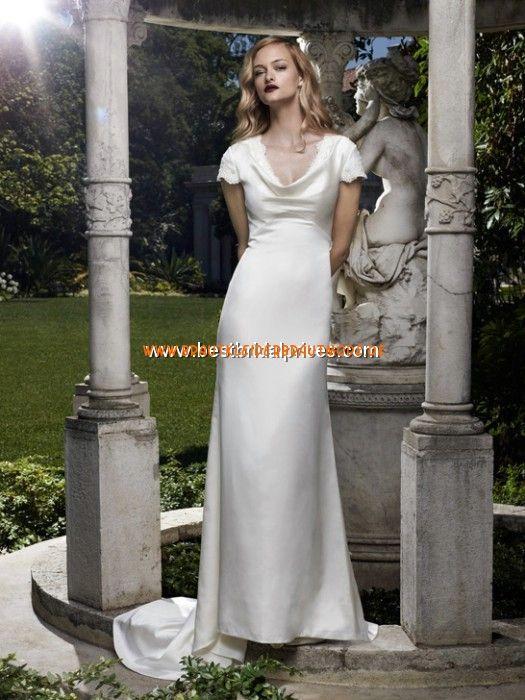 Modische Brautmode berlin kaufen aus Satin mit Ärmel