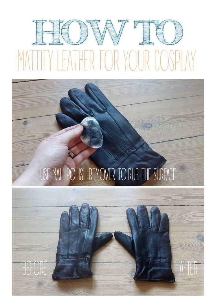 Cosplay 101: How to mattify leather