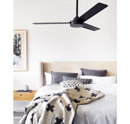 Roto 3 Blade Fan Only in Matt Black | Ceiling Fans No Lights | Ceiling Fans | Fans