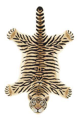 Modern Hand-Tufted Leopard Skin Shape Wool Rug - 3' x 5' on Chairish.com