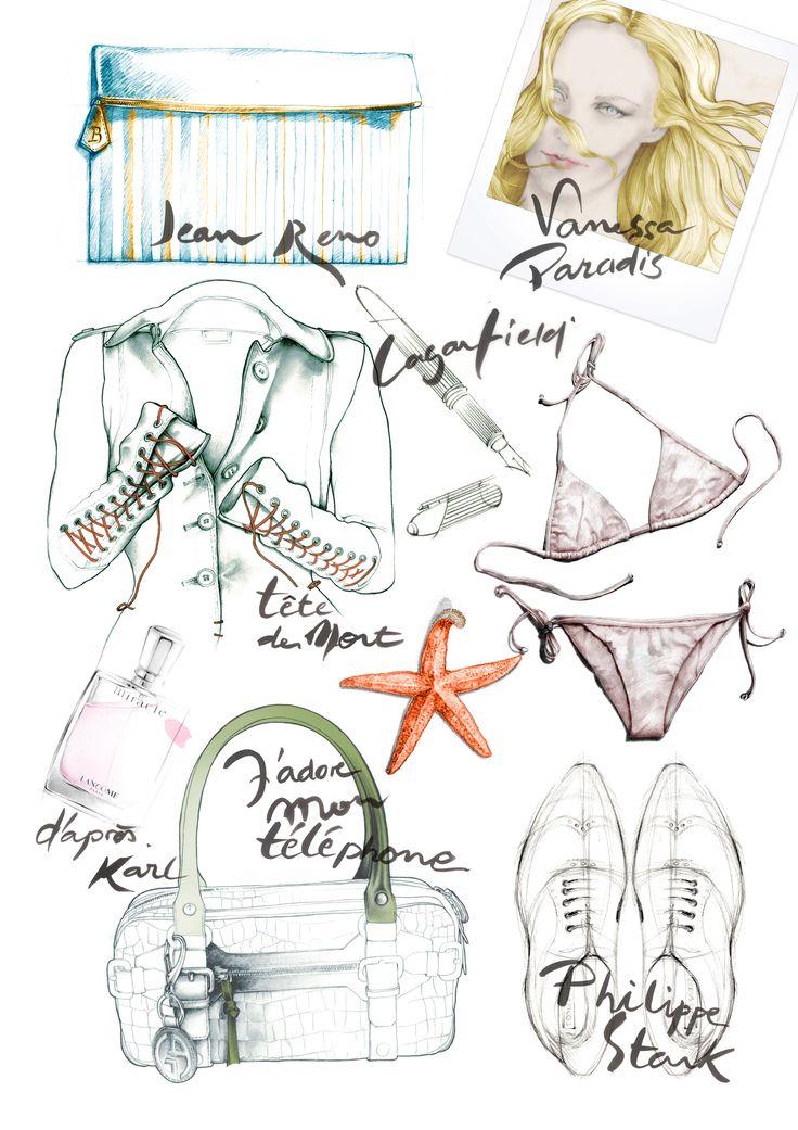 Illustration mode essai Figaro Madame dessin Florence Gendre #illustration#mode#lettering