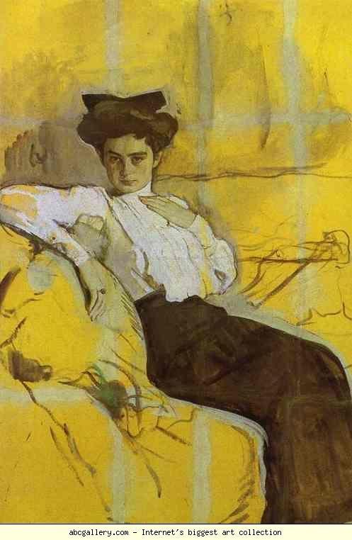 Valentin Serov. Portrait of Henrietta Girshman.