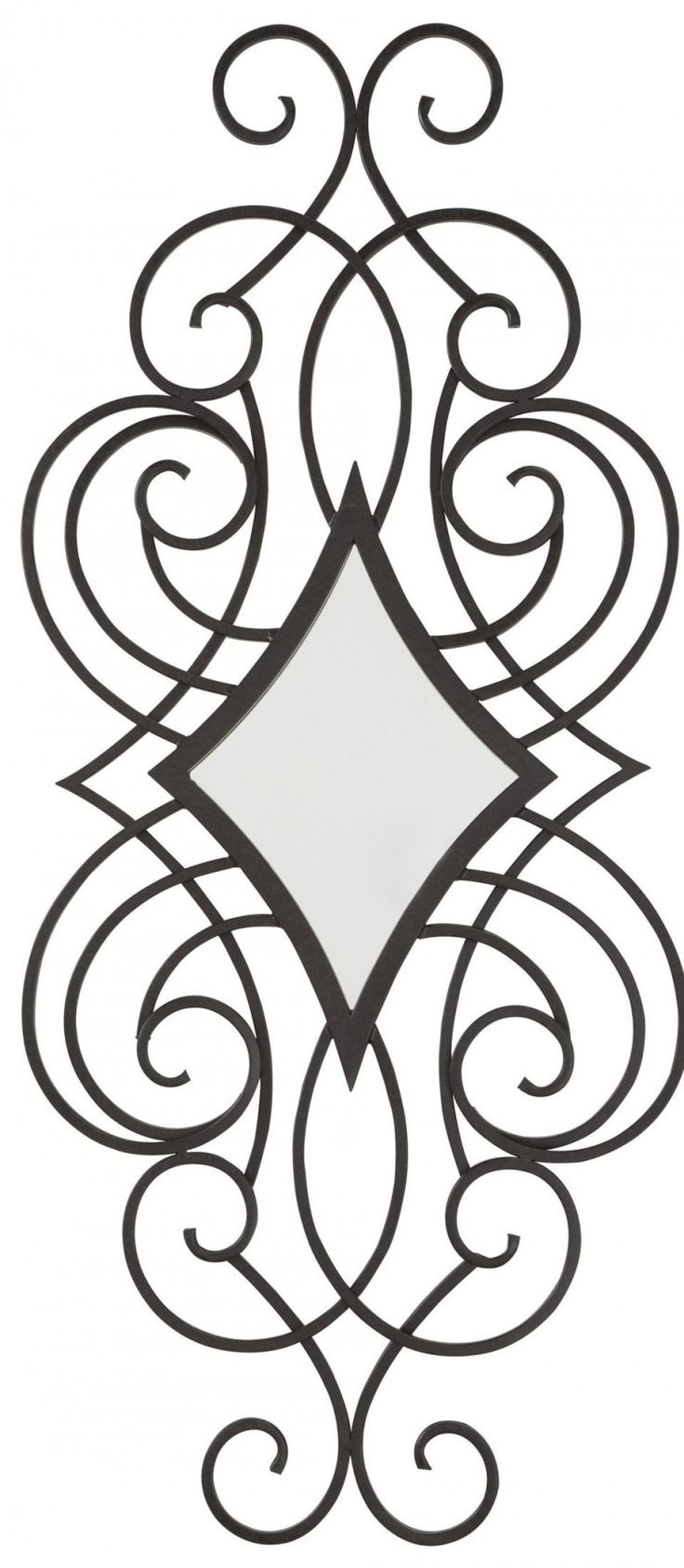 Romantic oilbhe black accent mirror from signature design by ashley maybe the particle you forgot to include into your interior victorian style scrollwork