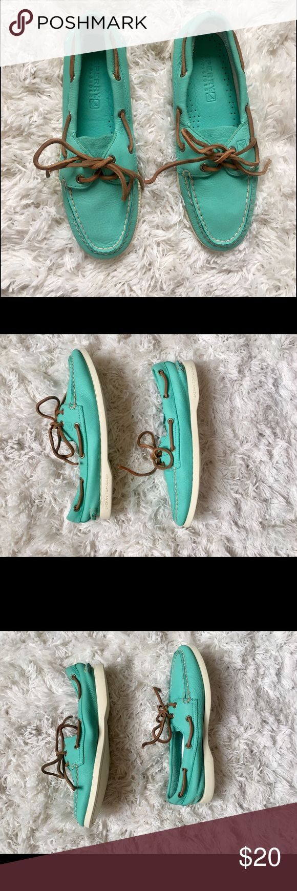 Sperry Authentic Original Boat Shoe, Size 6 ✖️ Sperry Top-Sider Authentic Original Boat Shoe                                                                                                            ✖️ Size 6                                                                                 ✖️ Turquoise Leather                                                                                                                                                       ✖️ Never worn. No tags purchased at…